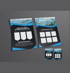 design the front and back pages of the black vector image