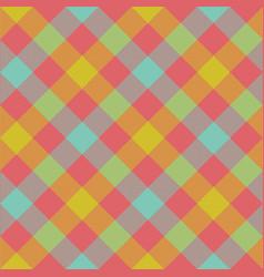 Diagonal checkered plaid seamless pattern vector