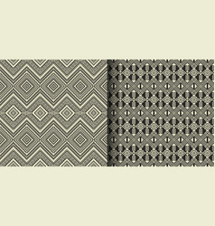 ethnic geometric seamless pattern turkish vector image