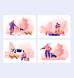farmer everyday routine people doing farming vector image