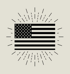 flag with burst in flat style vector image