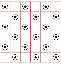 Football Ball Red Grid White Background vector