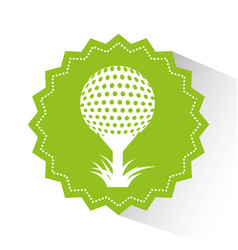 golf sport emblem icon vector image