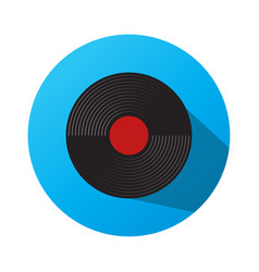 Gramophone recordings with a blue background vector