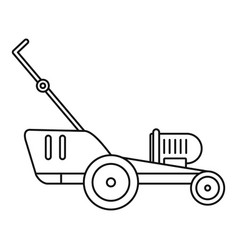 Grass cutter icon outline style vector