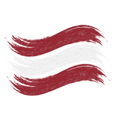 Grunge brush stroke with national flag of latvia vector