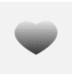 Halftone heart on a white background vector image