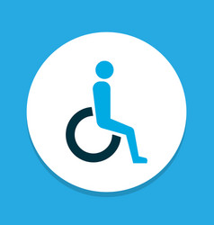 handicapped icon colored symbol premium quality vector image