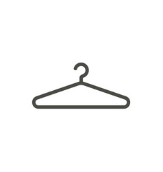 hanger icon line clothes hanger symbol vector image