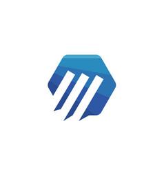 hexagon trend logo vector image