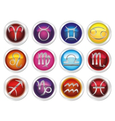 Horoscope zodiac signs vector