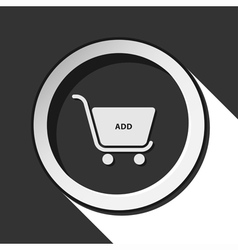 Icon - shopping cart add with shadow vector