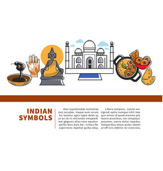 indian symbols promo web banner with sample text vector image