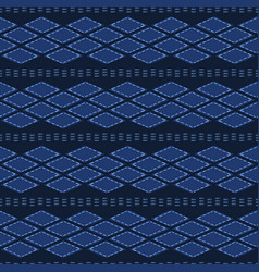 Indigo blue abstract organic tribal shapes vector