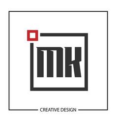 Initial letter mk logo template design vector