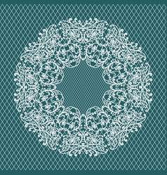 Lace invitation card wedding or greeting card vector