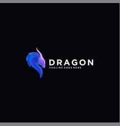 logo dragon head colorful style vector image