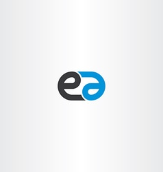 logo letter e and a combination icon vector image