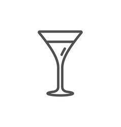 martini glass line icon wine glass sign vector image