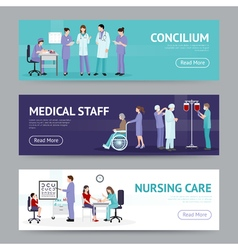 Medical Care Horizontal Banners vector