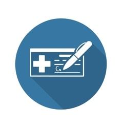 Medical prescription and services icon flat vector