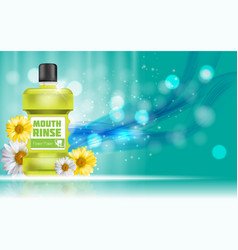 mouth rinse design cosmetics product bottle with vector image