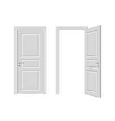 open and close realistic door vector image