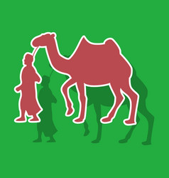 Paper sticker on theme arabic business bedouin vector