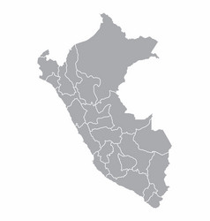 peru provinces map vector image