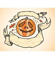 pumpkin banners vector image