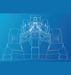 Race car wire-frame eps10 format created vector
