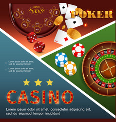 realistic casino colorful concept vector image