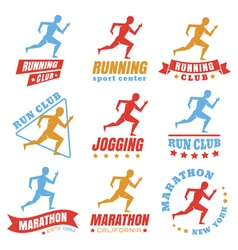 Running logos color vector