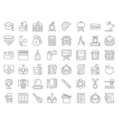School and education related icon set vector