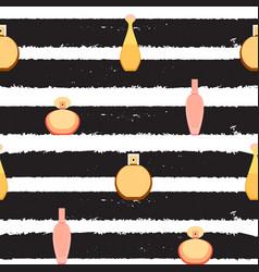 Seamless pattern of perfume and adekalon bott vector