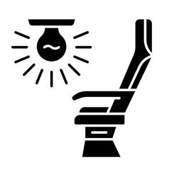 Seat light glyph icon vector