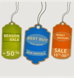 set coupon labels grunge style vector image