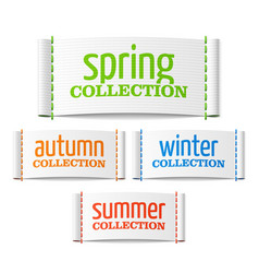 Spring summer autumn and winter collection labels vector