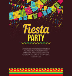 Stylish colorful poster calling to fiesta vector