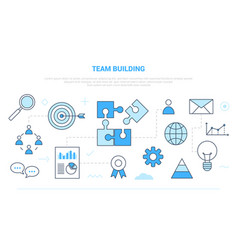 Team building people business concept campaign vector