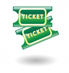 tickets illustration vector image vector image