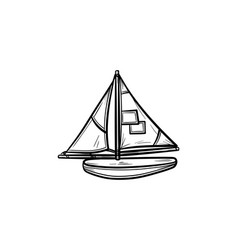 toy model of a ship hand drawn outline doodle icon vector image