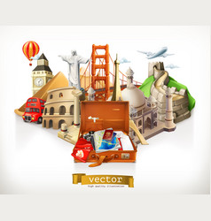 travel 3d vector image