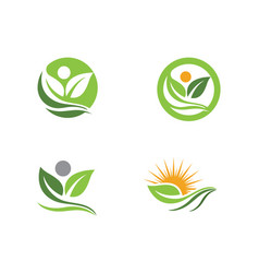Tree leaf ecology nature element vector
