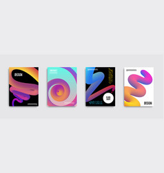trendy abstract covers liquid color shapes for vector image