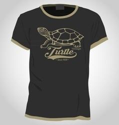 Turtle shirt design vector