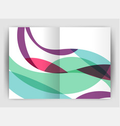 wave design business brochure or annual report vector image