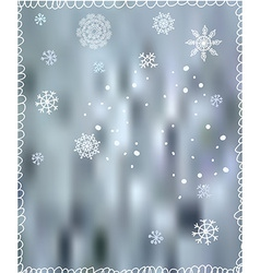 Winter background with snowflakes - for Christmas vector