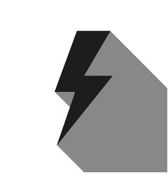 bolt icon with long shadow vector image