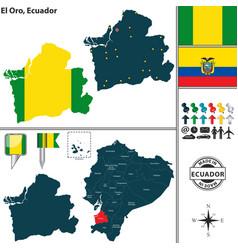 map of el oro ecuador vector image vector image